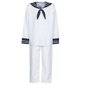 Oblačila Moški Kostumi Fun Costumes COSTUME ADULTE MARIN BLANC Bela