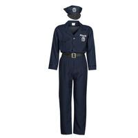Oblačila Moški Kostumi Fun Costumes COSTUME ADULTE OFFICIER DE POLICE Večbarvna