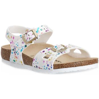 Čevlji  Otroci Sandali & Odprti čevlji Birkenstock RIO CONFETTI WHITE CAL S Bianco