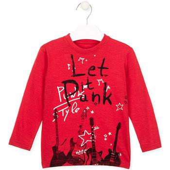 Oblačila Otroci Majice z dolgimi rokavi Losan 026-1001AL Rdeča