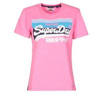 Oblačila Ženske Majice s kratkimi rokavi Superdry VL CALI TEE 181 Rožnata