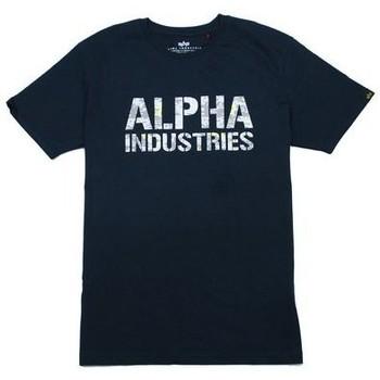 Oblačila Moški Majice s kratkimi rokavi Alpha T-shirt  Camo Print bleu nuit/blanc