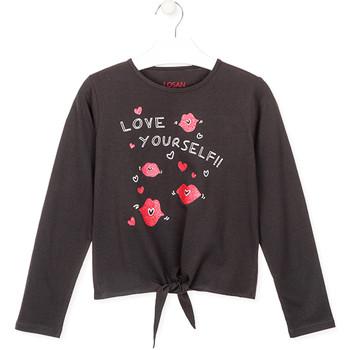 Oblačila Deklice Majice z dolgimi rokavi Losan 024-1202AL Siva