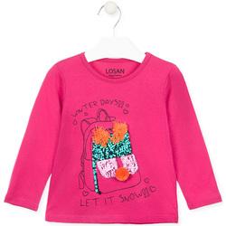 Oblačila Deklice Majice z dolgimi rokavi Losan 026-1201AL Roza