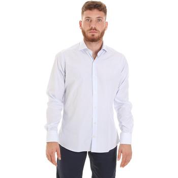 Oblačila Moški Srajce z dolgimi rokavi Les Copains 20P.922 P3196SL Biely