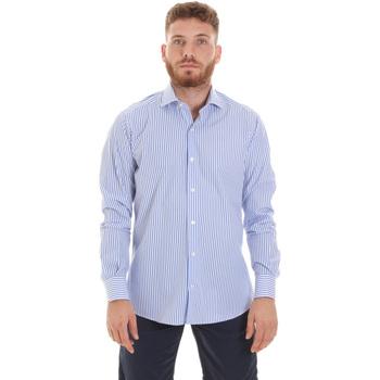 Oblačila Moški Srajce z dolgimi rokavi Les Copains 20P.623 P3196SL Modra