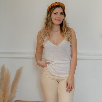 Oblačila Ženske Topi & Bluze Céleste INSEPARABLE Kremno bela