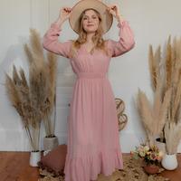 Oblačila Ženske Dolge obleke Céleste COLOMBE Rožnata