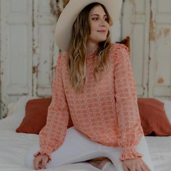 Oblačila Ženske Topi & Bluze Céleste HIRONDELLE Rožnata