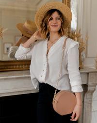 Oblačila Ženske Topi & Bluze Céleste ZEPHYR Bela