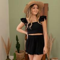 Oblačila Ženske Kratke hlače & Bermuda Céleste MAGNOLIA Črna