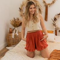 Oblačila Ženske Kratke hlače & Bermuda Céleste MAGNOLIA Terracotta