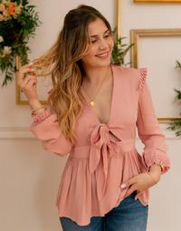 Oblačila Ženske Topi & Bluze Céleste ROSSIGNOL Rožnata