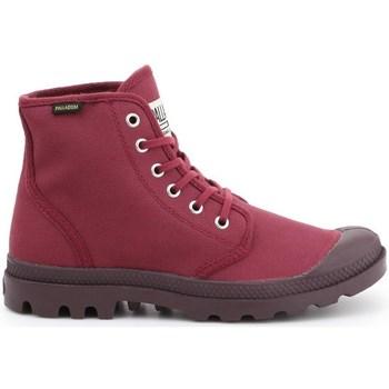 Čevlji  Ženske Visoke superge Palladium Manufacture Pampa HI Oryginale Češnjevo rdeča