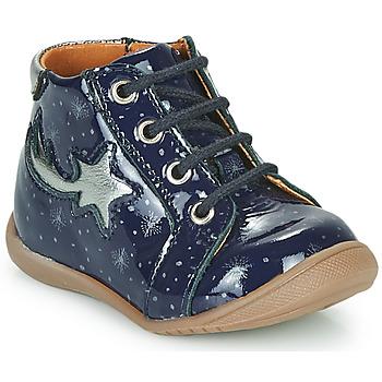 Čevlji  Deklice Visoke superge GBB POMME Modra