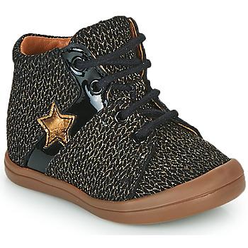 Čevlji  Deklice Visoke superge GBB DUANA Črna