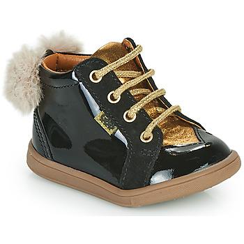 Čevlji  Deklice Visoke superge GBB SISSY Črna