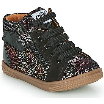 Čevlji  Deklice Visoke superge GBB VALA Črna