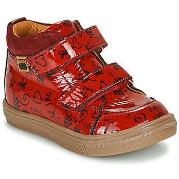 Čevlji  Deklice Visoke superge GBB DOMENA Rdeča