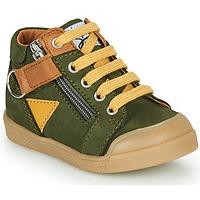 Čevlji  Dečki Visoke superge GBB TIMOTHE Zelena