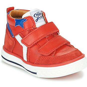 Čevlji  Dečki Visoke superge GBB FLAVIO Rdeča