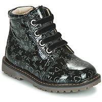 Čevlji  Deklice Visoke superge GBB NAREA Črna