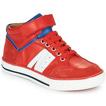 Čevlji  Dečki Visoke superge GBB ALIMO Rdeča