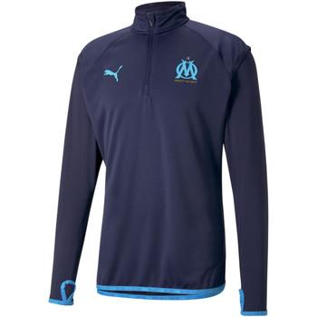 Oblačila Moški Športne jope in jakne Puma Sweat OM Warmup bleu foncé/bleu azur