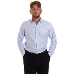 Oblačila Moški Srajce z dolgimi rokavi Les Copains 000.058 P3196SL Modra