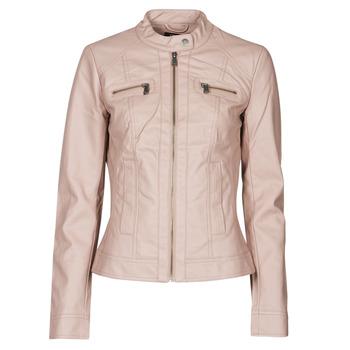 Oblačila Ženske Usnjene jakne & Sintetične jakne Only ONLBANDIT Rožnata