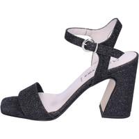 Čevlji  Ženske Sandali & Odprti čevlji Olga Rubini Sandali Glitter Nero