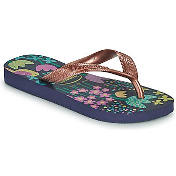 Čevlji  Deklice Japonke Havaianas KIDS FLORES Pozlačena