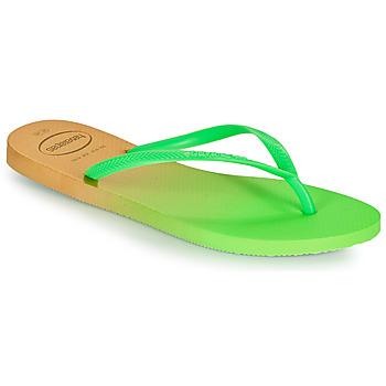 Čevlji  Ženske Japonke Havaianas SLIM GRADIENT Bela / Zelena