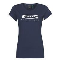 Oblačila Ženske Majice s kratkimi rokavi G-Star Raw GRAPHIC 20 SLIM Modra