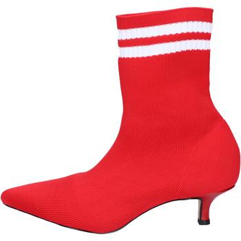 Čevlji  Ženske Gležnjarji Olga Rubini BJ427 Rdeča