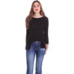 Oblačila Ženske Majice z dolgimi rokavi Dixie T340M028 Črna