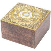 Dom Kovčki in škatle za shranjevanje Signes Grimalt Kvadratni Jewelry Box Dorado