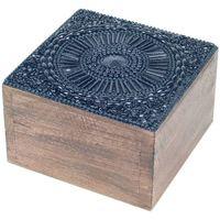 Dom Košare, škatle in košarice Signes Grimalt Škatla Za Nakit Square Box Negro