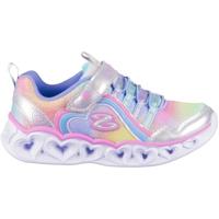 Čevlji  Deklice Nizke superge Skechers Heart Lights Rainbow Lux Srebrna, Svetlo modra, Roza
