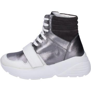 Čevlji  Ženske Visoke superge Twin Set Sneakers Pelle Camoscio Grigio