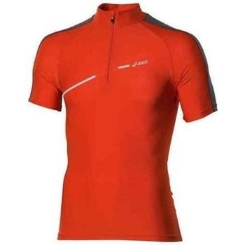Oblačila Moški Majice s kratkimi rokavi Asics 1 2 Zip Top Rdeča