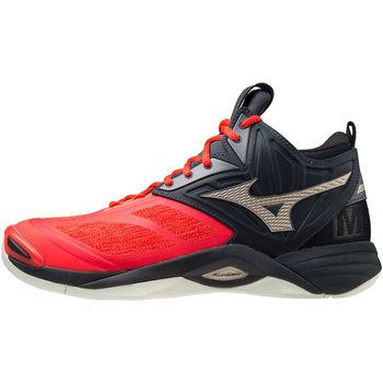 Čevlji  Moški Šport Mizuno Chaussures  Wave Momentum 2 Mid rouge/or/noir