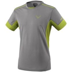 Oblačila Moški Majice s kratkimi rokavi Dynafit Vertical 2 M SS Siva, Svetlo zelena
