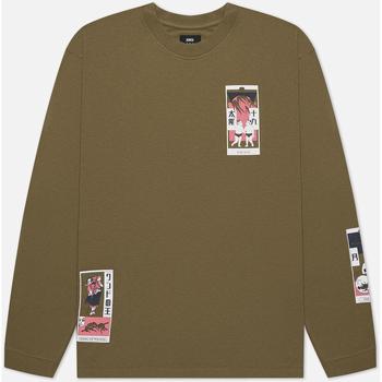Oblačila Moški Majice & Polo majice Edwin T-shirt manches longues  Tarot Deck II vert olive