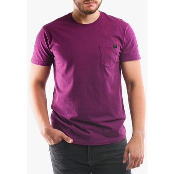 Oblačila Moški Majice & Polo majice Edwin T-shirt avec poche violet