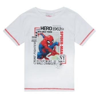 Oblačila Dečki Majice s kratkimi rokavi TEAM HEROES  SPIDERMAN TEE Bela