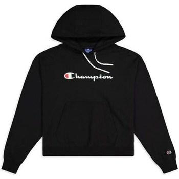 Oblačila Ženske Puloverji Champion Hooded Sweatshirt Nbk Črna
