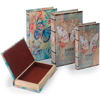Dom Kovčki in škatle za shranjevanje Signes Grimalt Book Box Set 4 Enote Multicolor