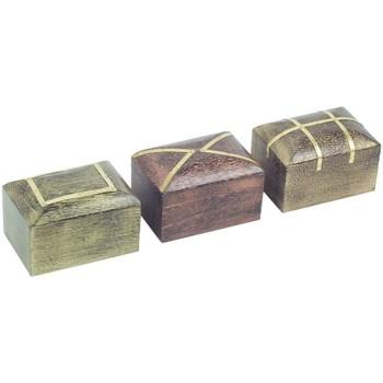 Dom Kovčki in škatle za shranjevanje Signes Grimalt Pravokotna Škatla Set 3U Multicolor