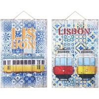 Dom Slike, platna Signes Grimalt Stenski Okras Lizbonske 2 Dif. Multicolor